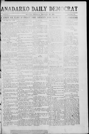 Primary view of Anadarko Daily Democrat (Anadarko, Okla.), Vol. 1, No. 70, Ed. 1, Saturday, November 30, 1901