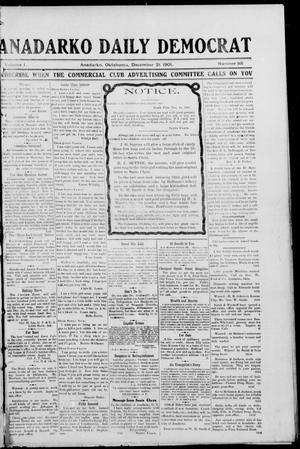 Primary view of object titled 'Anadarko Daily Democrat (Anadarko, Okla.), Vol. 1, No. 88, Ed. 1, Saturday, December 21, 1901'.