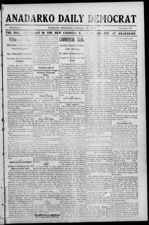 Primary view of object titled 'Anadarko Daily Democrat (Anadarko, Okla.), Vol. 1, No. 137, Ed. 1, Wednesday, February 19, 1902'.