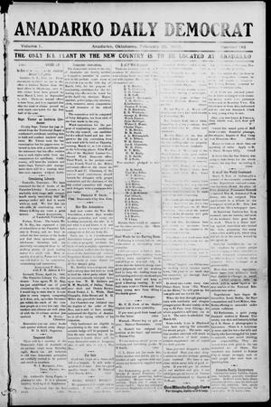 Primary view of object titled 'Anadarko Daily Democrat (Anadarko, Okla.), Vol. 1, No. 145, Ed. 1, Friday, February 28, 1902'.