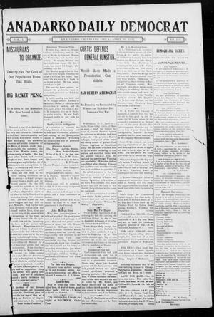 Primary view of object titled 'Anadarko Daily Democrat (Anadarko, Okla.), Vol. 1, No. 197, Ed. 1, Wednesday, April 30, 1902'.