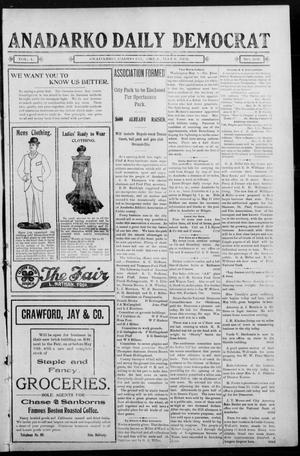Primary view of object titled 'Anadarko Daily Democrat (Anadarko, Okla.), Vol. 1, No. 202, Ed. 1, Tuesday, May 6, 1902'.