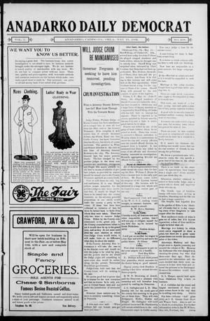 Primary view of object titled 'Anadarko Daily Democrat (Anadarko, Okla.), Vol. 1, No. 208, Ed. 1, Tuesday, May 13, 1902'.
