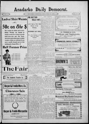 Primary view of Anadarko Daily Democrat. (Anadarko, Okla.), Vol. 1, No. 267, Ed. 1, Monday, July 21, 1902