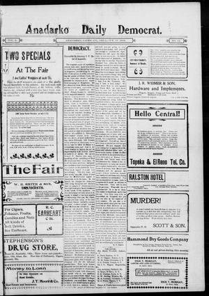 Primary view of object titled 'Anadarko Daily Democrat. (Anadarko, Okla.), Vol. 2, No. 44, Ed. 1, Friday, October 17, 1902'.