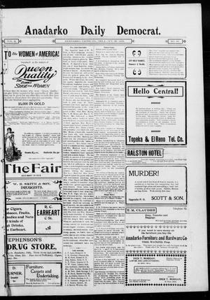 Primary view of object titled 'Anadarko Daily Democrat. (Anadarko, Okla.), Vol. 2, No. 48, Ed. 1, Wednesday, October 22, 1902'.