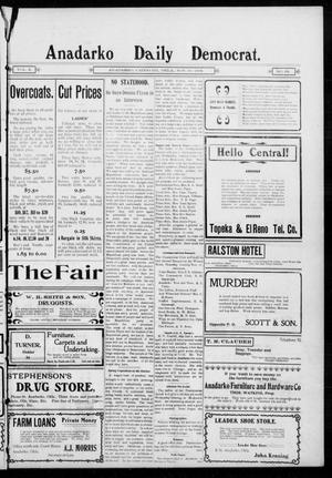 Primary view of object titled 'Anadarko Daily Democrat. (Anadarko, Okla.), Vol. 2, No. 62, Ed. 1, Monday, November 10, 1902'.