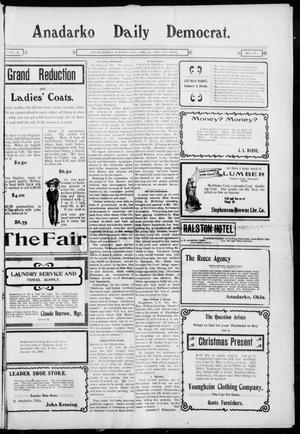Primary view of object titled 'Anadarko Daily Democrat. (Anadarko, Okla.), Vol. 2, No. 91, Ed. 1, Thursday, December 11, 1902'.