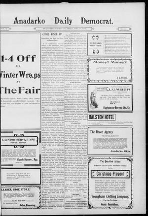 Primary view of object titled 'Anadarko Daily Democrat. (Anadarko, Okla.), Vol. 2, No. 94, Ed. 1, Monday, December 15, 1902'.