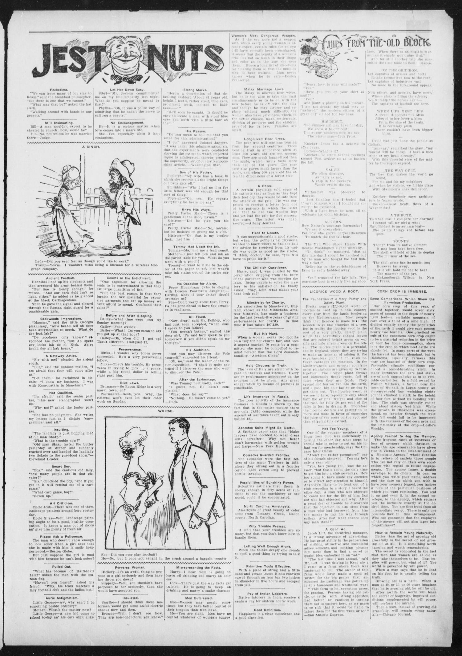 Anadarko Daily Democrat. (Anadarko, Okla.), Vol. 4, No. 87, Ed. 1, Friday, December 9, 1904                                                                                                      [Sequence #]: 3 of 4