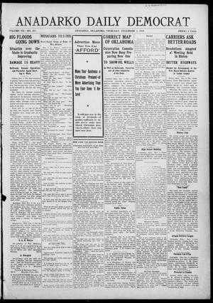 Primary view of object titled 'Anadarko Daily Democrat (Anadarko, Okla.), Vol. 7, No. 265, Ed. 1, Thursday, December 3, 1908'.