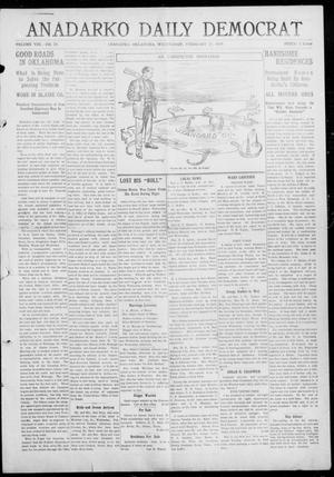 Primary view of object titled 'Anadarko Daily Democrat (Anadarko, Okla.), Vol. 8, No. 23, Ed. 1, Wednesday, February 24, 1909'.