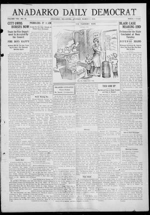 Primary view of object titled 'Anadarko Daily Democrat (Anadarko, Okla.), Vol. 8, No. 28, Ed. 1, Tuesday, March 2, 1909'.