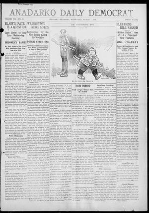 Primary view of object titled 'Anadarko Daily Democrat (Anadarko, Okla.), Vol. 8, No. 29, Ed. 1, Wednesday, March 3, 1909'.