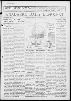 Primary view of object titled 'Anadarko Daily Democrat (Anadarko, Okla.), Vol. 8, No. 160, Ed. 1, Friday, August 6, 1909'.