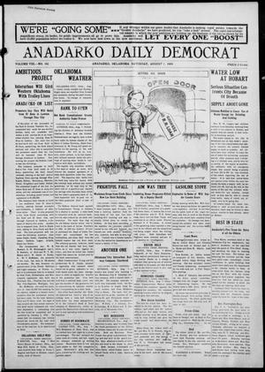 Primary view of object titled 'Anadarko Daily Democrat (Anadarko, Okla.), Vol. 8, No. 161, Ed. 1, Saturday, August 7, 1909'.