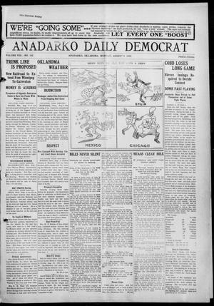 Primary view of object titled 'Anadarko Daily Democrat (Anadarko, Okla.), Vol. 8, No. 162, Ed. 1, Monday, August 9, 1909'.