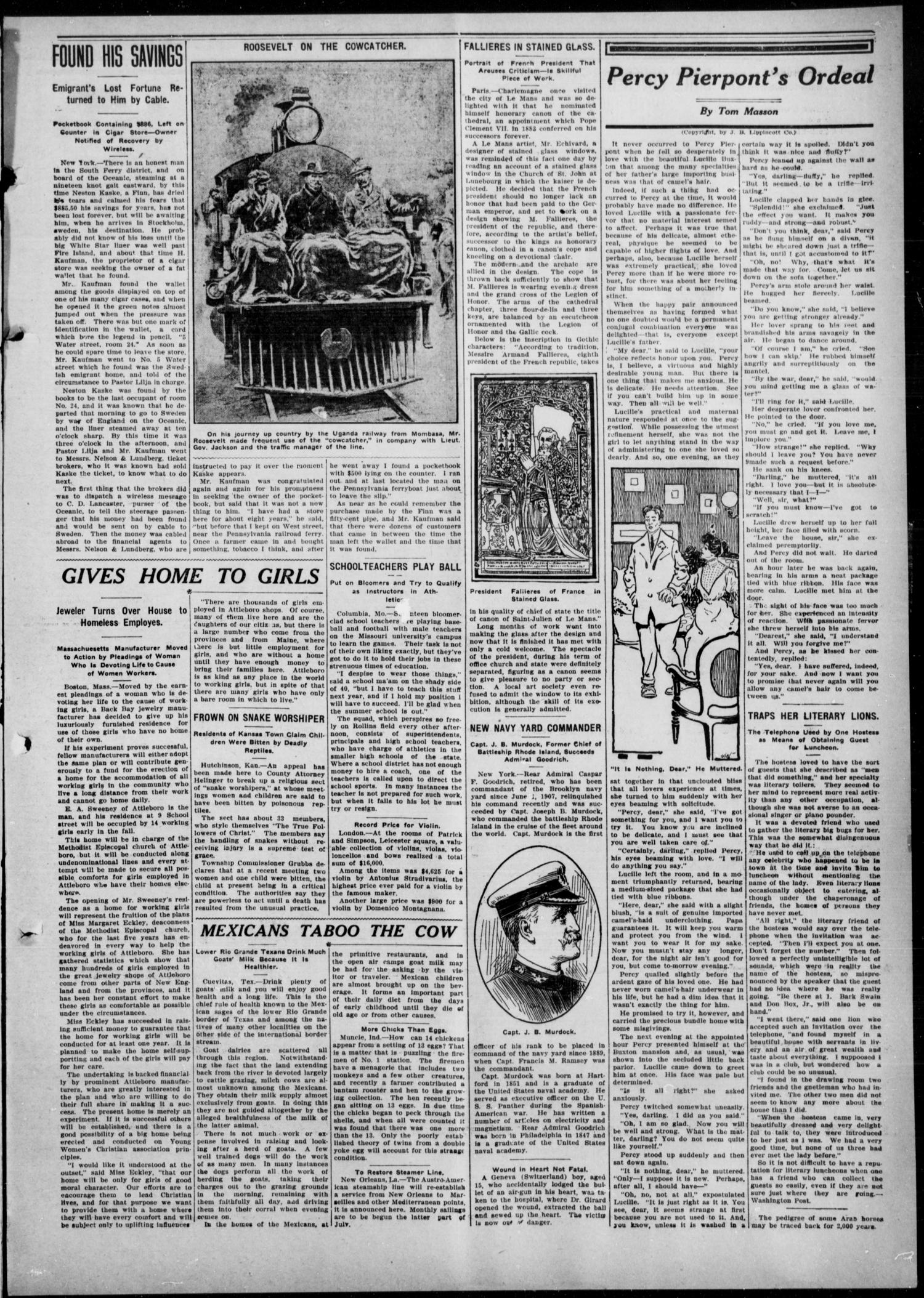 Anadarko Daily Democrat (Anadarko, Okla.), Vol. 8, No. 163, Ed. 1, Tuesday, August 10, 1909                                                                                                      [Sequence #]: 3 of 4