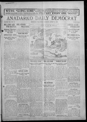 Primary view of object titled 'Anadarko Daily Democrat (Anadarko, Okla.), Vol. 8, No. 173, Ed. 1, Saturday, August 21, 1909'.