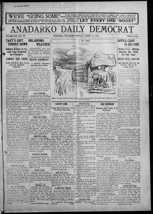 Primary view of object titled 'Anadarko Daily Democrat (Anadarko, Okla.), Vol. 8, No. 174, Ed. 1, Monday, August 23, 1909'.