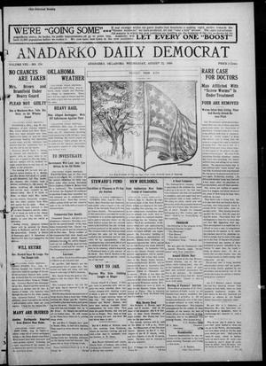 Primary view of object titled 'Anadarko Daily Democrat (Anadarko, Okla.), Vol. 8, No. 176, Ed. 1, Wednesday, August 25, 1909'.