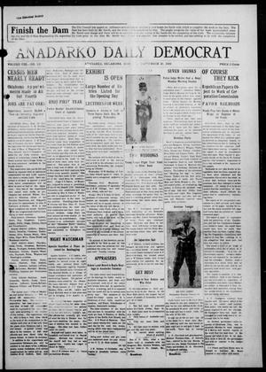 Primary view of object titled 'Anadarko Daily Democrat (Anadarko, Okla.), Vol. 8, No. 197, Ed. 1, Monday, September 20, 1909'.
