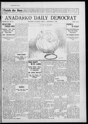 Primary view of object titled 'Anadarko Daily Democrat (Anadarko, Okla.), Vol. 8, No. 198, Ed. 1, Tuesday, September 21, 1909'.