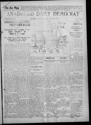 Primary view of Anadarko Daily Democrat (Anadarko, Okla.), Vol. 8, No. 216, Ed. 1, Tuesday, October 12, 1909