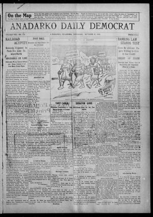 Primary view of object titled 'Anadarko Daily Democrat (Anadarko, Okla.), Vol. 8, No. 218, Ed. 1, Thursday, October 14, 1909'.