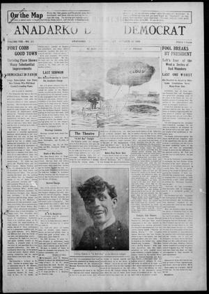 Primary view of object titled 'Anadarko Daily Democrat (Anadarko, Okla.), Vol. 8, No. 221, Ed. 1, Monday, October 18, 1909'.