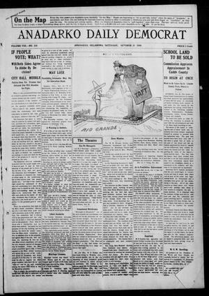 Primary view of object titled 'Anadarko Daily Democrat (Anadarko, Okla.), Vol. 8, No. 226, Ed. 1, Saturday, October 23, 1909'.