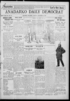Primary view of object titled 'Anadarko Daily Democrat (Anadarko, Okla.), Vol. 8, No. 247, Ed. 1, Thursday, November 18, 1909'.