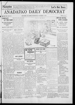 Primary view of object titled 'Anadarko Daily Democrat (Anadarko, Okla.), Vol. 8, No. 252, Ed. 1, Wednesday, November 24, 1909'.