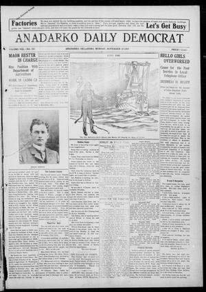 Primary view of object titled 'Anadarko Daily Democrat (Anadarko, Okla.), Vol. 8, No. 255, Ed. 1, Monday, November 29, 1909'.