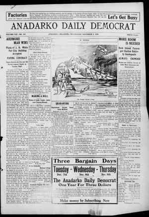 Primary view of object titled 'Anadarko Daily Democrat (Anadarko, Okla.), Vol. 8, No. 263, Ed. 1, Wednesday, December 8, 1909'.