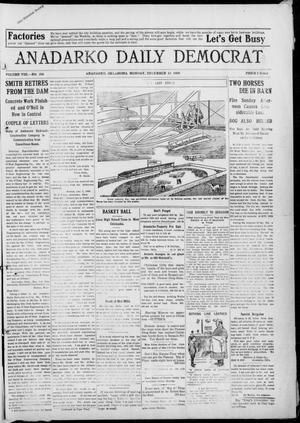 Primary view of object titled 'Anadarko Daily Democrat (Anadarko, Okla.), Vol. 8, No. 266, Ed. 1, Monday, December 13, 1909'.