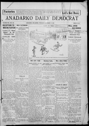 Primary view of object titled 'Anadarko Daily Democrat (Anadarko, Okla.), Vol. 8, No. 268, Ed. 1, Tuesday, December 14, 1909'.