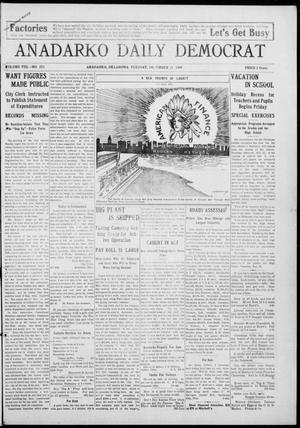 Primary view of object titled 'Anadarko Daily Democrat (Anadarko, Okla.), Vol. 8, No. 273, Ed. 1, Tuesday, December 21, 1909'.