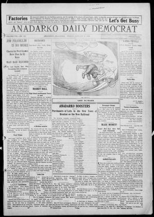 Primary view of object titled 'Anadarko Daily Democrat (Anadarko, Okla.), Vol. 8, No. 293, Ed. 1, Friday, January 14, 1910'.