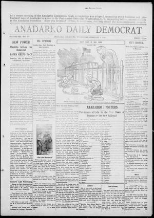 Primary view of object titled 'Anadarko Daily Democrat (Anadarko, Okla.), Vol. 8, No. 315, Ed. 1, Wednesday, February 9, 1910'.