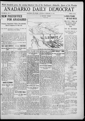 Primary view of object titled 'Anadarko Daily Democrat (Anadarko, Okla.), Vol. 9, No. 11, Ed. 1, Saturday, February 19, 1910'.