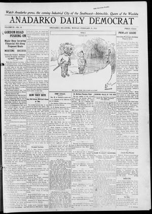 Primary view of object titled 'Anadarko Daily Democrat (Anadarko, Okla.), Vol. 9, No. 18, Ed. 1, Monday, February 28, 1910'.