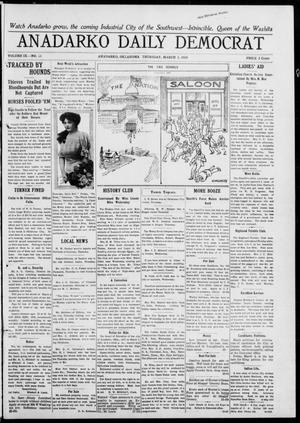 Primary view of object titled 'Anadarko Daily Democrat (Anadarko, Okla.), Vol. 9, No. 21, Ed. 1, Thursday, March 3, 1910'.