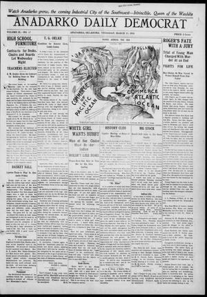 Primary view of object titled 'Anadarko Daily Democrat (Anadarko, Okla.), Vol. 9, No. 27, Ed. 1, Thursday, March 10, 1910'.
