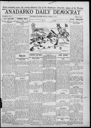 Primary view of object titled 'Anadarko Daily Democrat (Anadarko, Okla.), Vol. 9, No. 30, Ed. 1, Monday, March 14, 1910'.