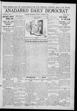 Primary view of object titled 'Anadarko Daily Democrat (Anadarko, Okla.), Vol. 9, No. 44, Ed. 1, Saturday, March 19, 1910'.