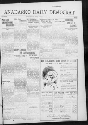Primary view of object titled 'Anadarko Daily Democrat (Anadarko, Okla.), Vol. 9, No. 89, Ed. 1, Friday, May 20, 1910'.