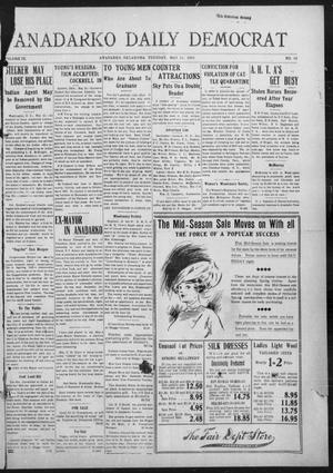 Primary view of object titled 'Anadarko Daily Democrat (Anadarko, Okla.), Vol. 9, No. 92, Ed. 1, Tuesday, May 24, 1910'.