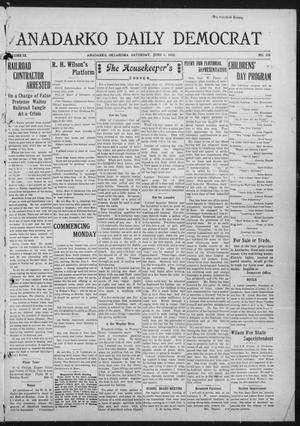 Primary view of object titled 'Anadarko Daily Democrat (Anadarko, Okla.), Vol. 9, No. 101, Ed. 1, Saturday, June 4, 1910'.