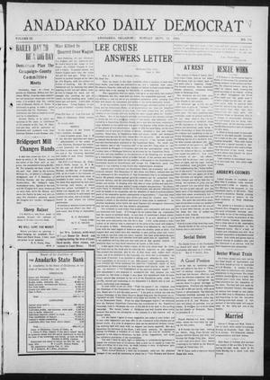 Primary view of object titled 'Anadarko Daily Democrat (Anadarko, Okla.), Vol. 9, No. 184, Ed. 1, Monday, September 12, 1910'.